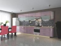 Кухня Элит Розовый-голубой металлик