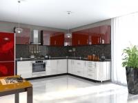 Кухня Элит Северное сияние-марс глянец