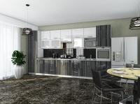 Кухня Элит Титан черный-Титан белый