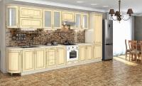 Кухня Платинум Дуб беленный патина золотая