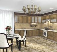 Кухня Платинум Ель карпатская коричневая патина