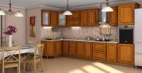 Кухня Платинум Вишня Форема патина коричневая
