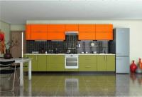 Кухня Элит Олива-Оранж
