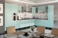Кухня София Романтика (ваниль, морская волна)